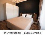 modern bedroom interior design. ...   Shutterstock . vector #1188329866