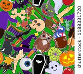 halloween colorful sticker... | Shutterstock .eps vector #1188331720