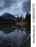 beautiful view of a cabin near... | Shutterstock . vector #1188335473