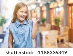 young beautiful girl over... | Shutterstock . vector #1188336349