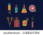 free diwali fire crackers vector | Shutterstock .eps vector #1188337396