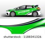 company car wrap. wrap design... | Shutterstock .eps vector #1188341326