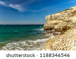 rocky coast of the black sea.... | Shutterstock . vector #1188346546