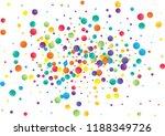 festive color round confetti... | Shutterstock .eps vector #1188349726