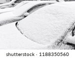 cars at parking covered by snow ... | Shutterstock . vector #1188350560