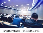 blurry of auditorium for... | Shutterstock . vector #1188352543
