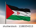 waving flag of the sahrawi arab ... | Shutterstock . vector #1188354313