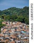 cerro cora favela expanding...   Shutterstock . vector #1188355393