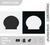 swimming cap flat black and... | Shutterstock .eps vector #1188358066