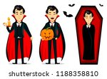 happy halloween. vampire... | Shutterstock .eps vector #1188358810