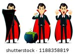 happy halloween. vampire... | Shutterstock .eps vector #1188358819