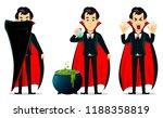 happy halloween. vampire...   Shutterstock .eps vector #1188358819