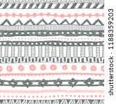 striped ethnic pattern painted... | Shutterstock .eps vector #1188359203