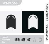 kickboard flat black and white... | Shutterstock .eps vector #1188359599