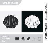 shell flat black and white... | Shutterstock .eps vector #1188362053