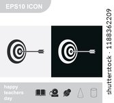 pictograph of target flat black ... | Shutterstock .eps vector #1188362209