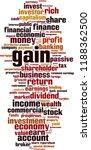 gain word cloud concept. vector ... | Shutterstock .eps vector #1188362500