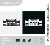 museum flat black and white... | Shutterstock .eps vector #1188363619