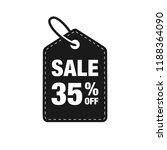 35  off discount label symbols...   Shutterstock .eps vector #1188364090
