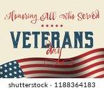 holiday veterans day usa flag... | Shutterstock .eps vector #1188364183