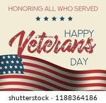 holiday veterans day usa flag... | Shutterstock .eps vector #1188364186