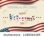 holiday veterans day usa flag... | Shutterstock .eps vector #1188364189
