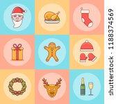 set of christmas elements.... | Shutterstock .eps vector #1188374569