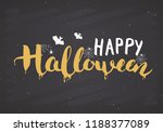 halloween greeting card....   Shutterstock .eps vector #1188377089