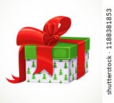 holiday gift in white box with... | Shutterstock .eps vector #1188381853