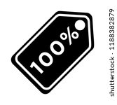 sale tags icon   100 percent  ... | Shutterstock .eps vector #1188382879