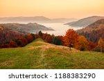 amazing autumn dawn scenery in... | Shutterstock . vector #1188383290