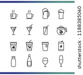 set of thin line drink icon... | Shutterstock .eps vector #1188385060