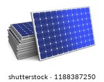 solar panel concept 3d... | Shutterstock . vector #1188387250