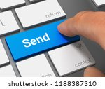 send pushing keyboard with... | Shutterstock . vector #1188387310