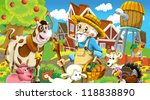 on the farm   illustration for... | Shutterstock . vector #118838890