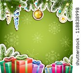 green background with christmas ... | Shutterstock .eps vector #118838998