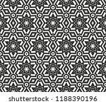 vector monochrome seamless... | Shutterstock .eps vector #1188390196