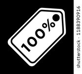 sale tags icon   100 percent  ... | Shutterstock .eps vector #1188390916