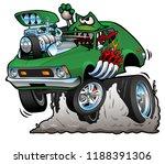 green hot rod funny car cartoon ...   Shutterstock .eps vector #1188391306
