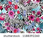bright seamless pattern with... | Shutterstock .eps vector #1188392260