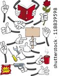 cartoon hands collection | Shutterstock .eps vector #118839598