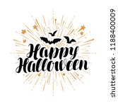 happy halloween  greeting card. ... | Shutterstock .eps vector #1188400009