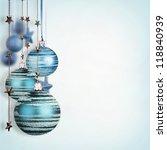 blue christmas balls isolated...   Shutterstock . vector #118840939