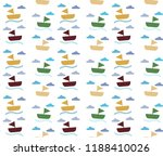 boat and sea pattern background | Shutterstock .eps vector #1188410026