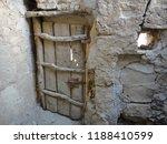 Knobby Wooden Door On An...