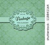 vintage background with damask... | Shutterstock .eps vector #118841164