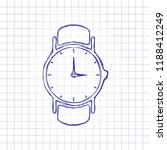 classic hand watch with arrows  ... | Shutterstock .eps vector #1188412249
