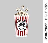 popcorn cartoon expressions... | Shutterstock .eps vector #1188414856