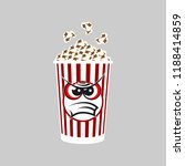 popcorn cartoon expressions... | Shutterstock .eps vector #1188414859