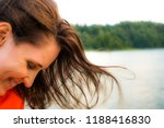 beautiful woman smiling happy... | Shutterstock . vector #1188416830